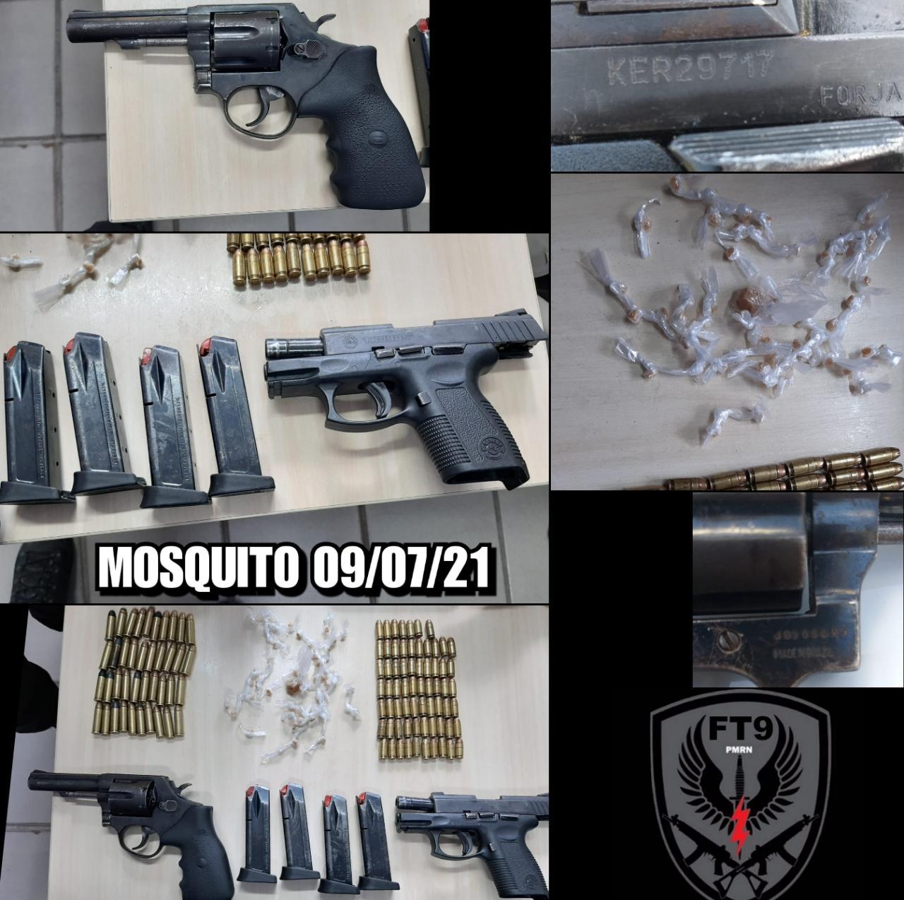 POLICIAIS MILITARES FORÇA TÁTICA DO 9° BATALHÃO APREENDEM ARMAS